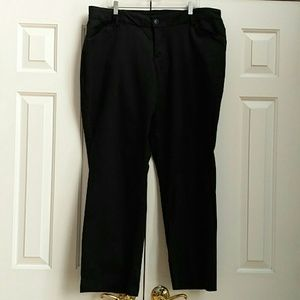 Lee black slacks